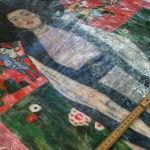Klimt-Kopie beim Rahmenbauer: auf Wunsch lassen wir Bilder auf Keilrahmen ziehen