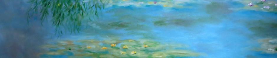 Reproduktion, Claude Monet Seerosen, Detail
