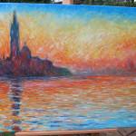 "Unserer Reproduktion von Claude Monets ""San Giorgio Maggiore at Dusk"""