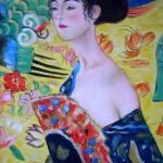 Kopie: Dame mit Fächer von Gustav Klimt