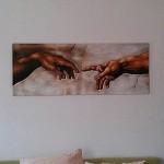 Kein Poster, sondern ein Gemälde: Eine Michelangelo-Kopie