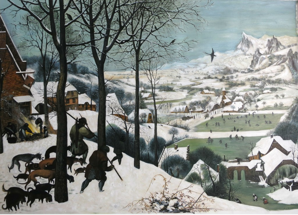 Reproduktion: Pieter Bruegel, Jäger im Schnee, ca. 80 x 100 cm, ab 420 Euro