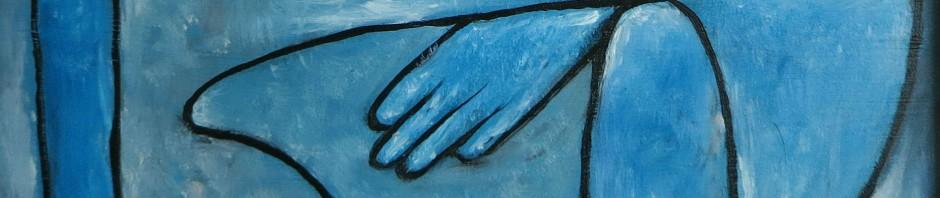 Kopie: Paul Klee, Angelus Dubiosus, gerahmt, ca. 16 x 21 cm, 45 Euro