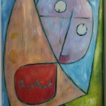 Kopie: Paul Klee, Engel, noch weiblich, gerahmt ca. 16 x 21 cm, 45 Euro
