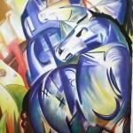 Reproduktion: Franz Marc, Turm der blauen Pferde