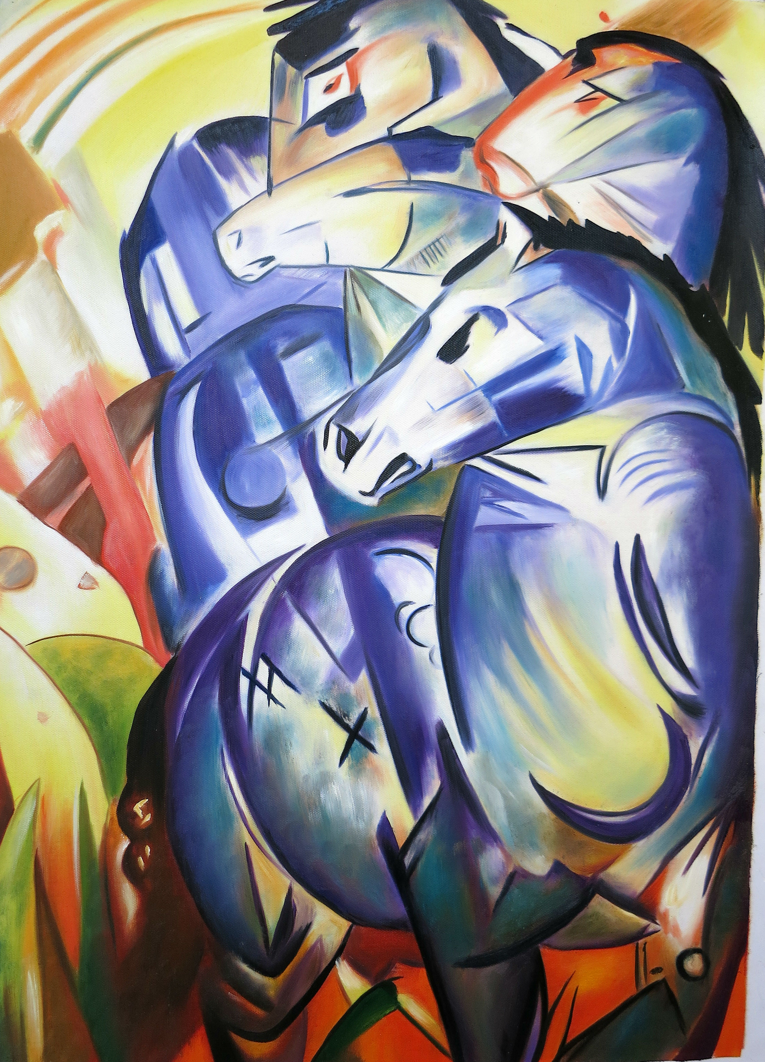 Reproduktion: Franz Marc, Turm der blauen Pferde, 210 Euro