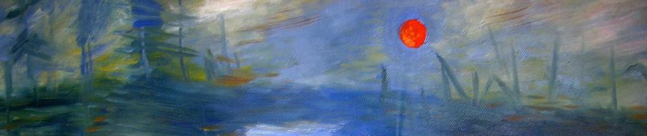 """Kopie: Monets """" Impression soleil levant"""" (Detail)"""