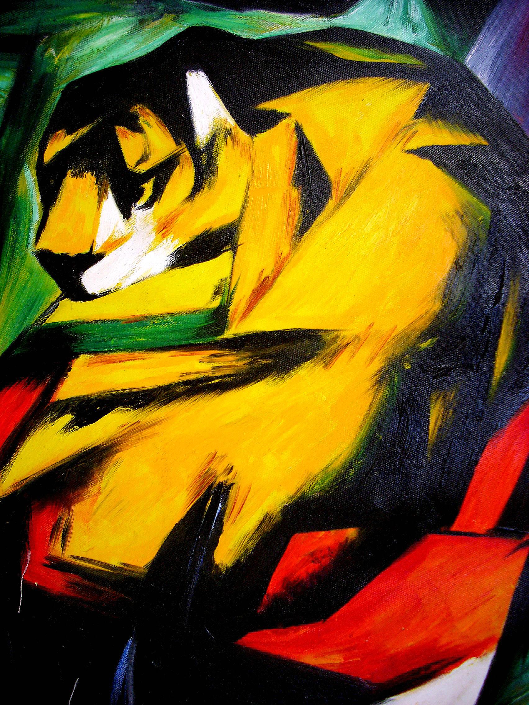 Franz Marc, Tiger (unsere Meisterkopie)