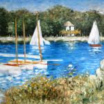 Ölgemälde: Unsere Kopie von: Claude Monet, The Basin at Argenteul