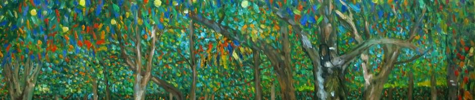 Reprodukton: Gustav Klimt Birnenbaum, Detail
