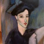 Porträt einer jungen Frau: Unserer Meisterkopie von Amedeo Modiglianis La Juive
