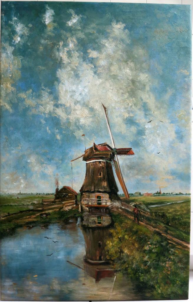 Reproduktion: Paul Joseph Constantin Gabriel, Een molen aan een poldervaart